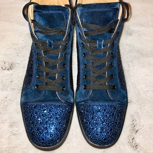 ab87060314dc Christian Louboutin Shoes - Christian Louboutin Louis Strass High Top  Sneakers